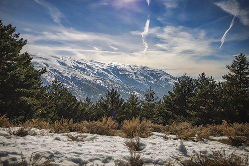 sierra nevada  spain  mountains
