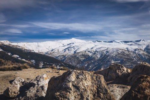 sierra nevada  snow  mountain
