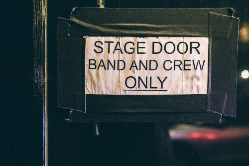 sign door sign stage door