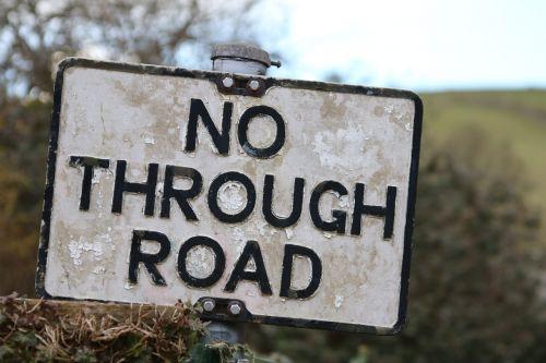 sign no through road road sign
