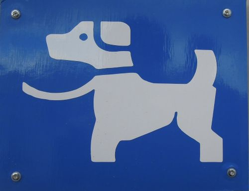 sign dog character