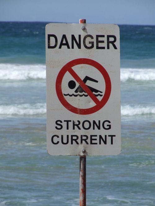 sign danger surf