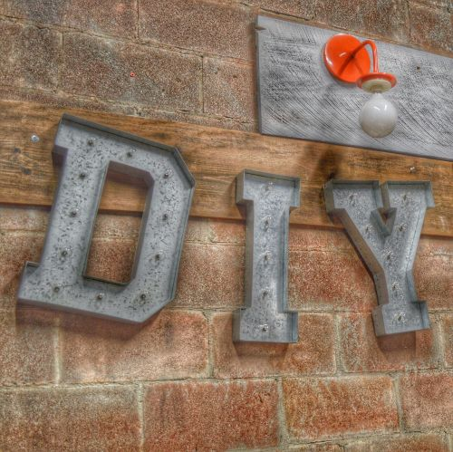 sign do it yourself diy