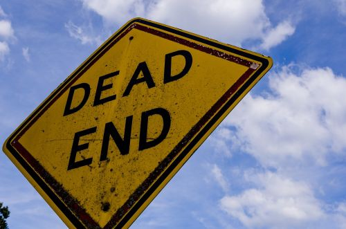 sign street dead end