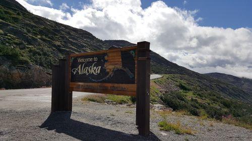 sign alaska welcome