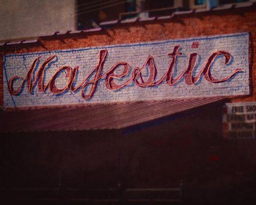 sign majestic bar