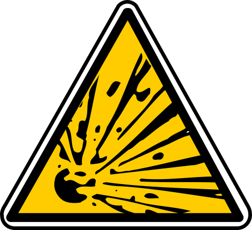 sign explosive explosion