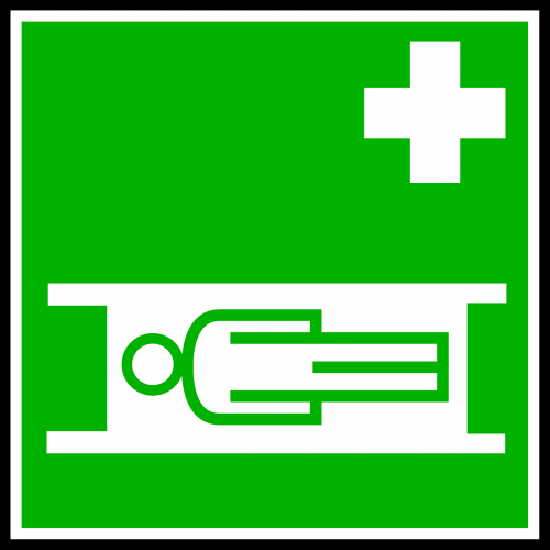 sign stretcher ambulance