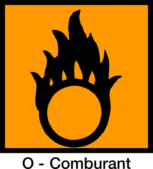 sign combustible oxydizing