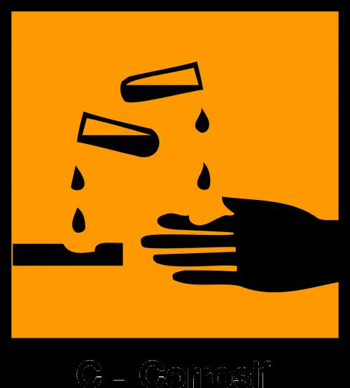 sign corrosive acid