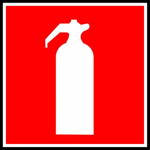 sign hydrant extinguisher