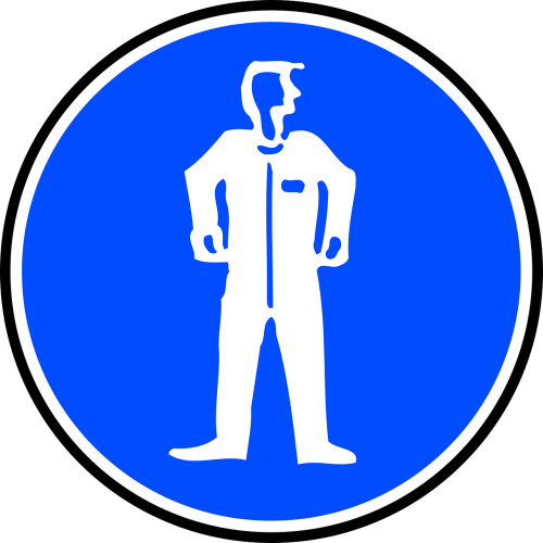 sign protective clothing mandatory