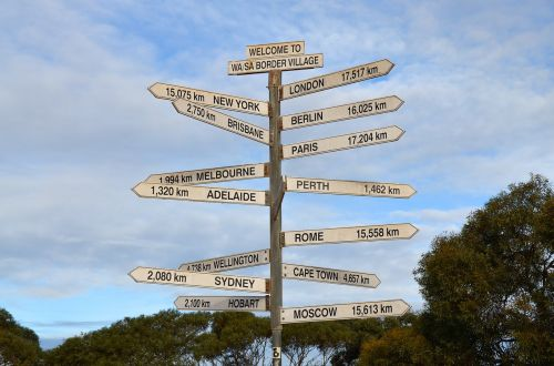 sign signpost direction
