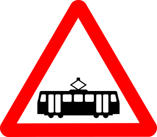 tramway signs tram