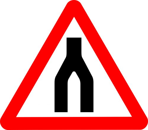 road split signs