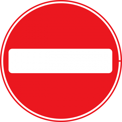 sign no entry traffic