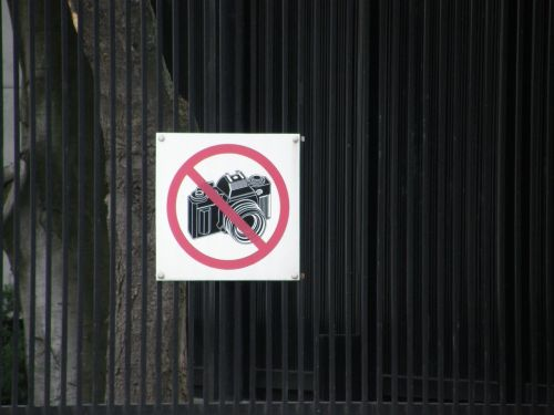 sign no photography