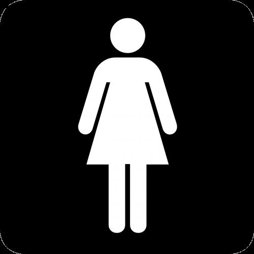 sign toilet washroom