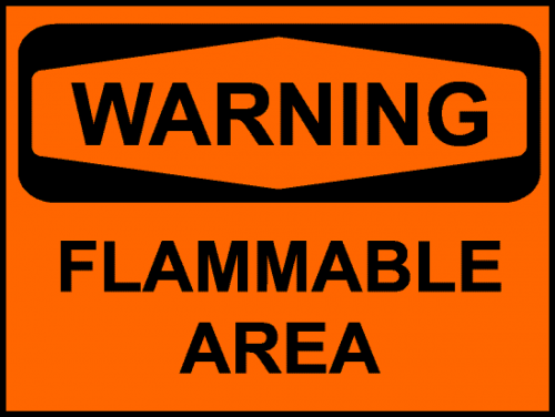 sign warning flammable