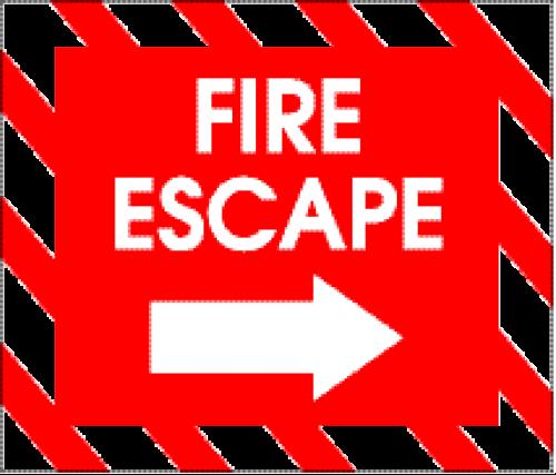 sign fire escape