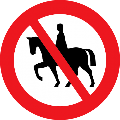 sign riding prohibited