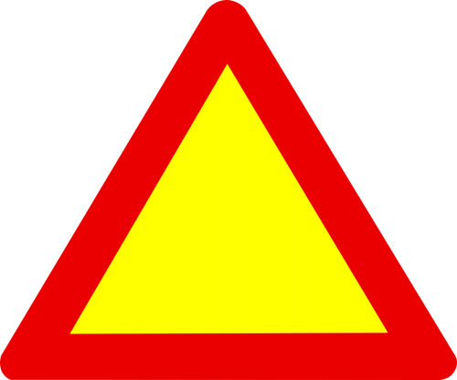sign triangle road