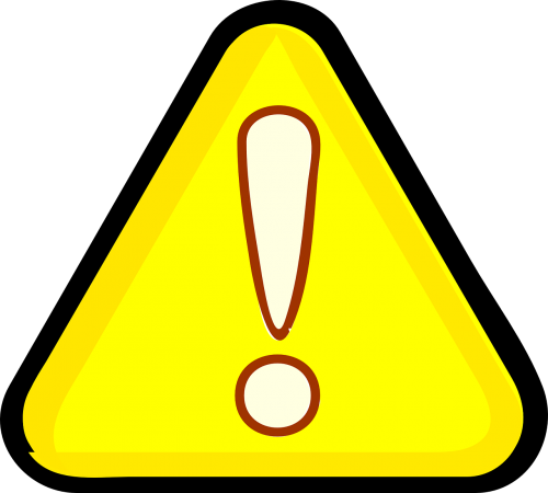 sign triangle warning