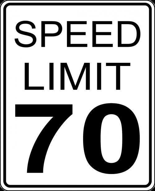 sign speed limit 70