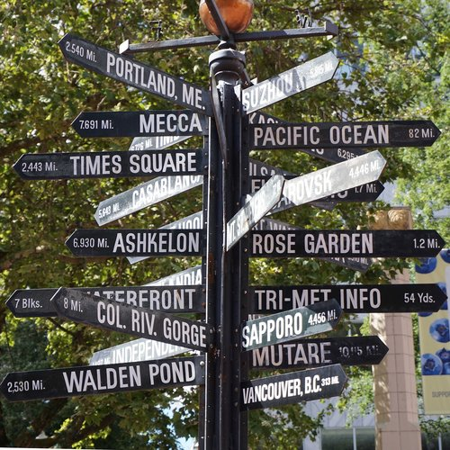 sign  directional sign  directions