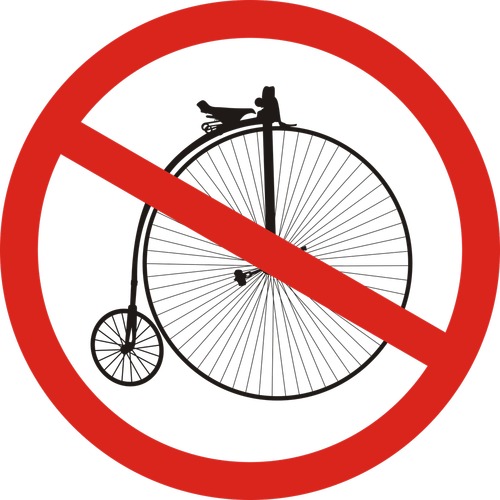 sign  the prohibition of  bike