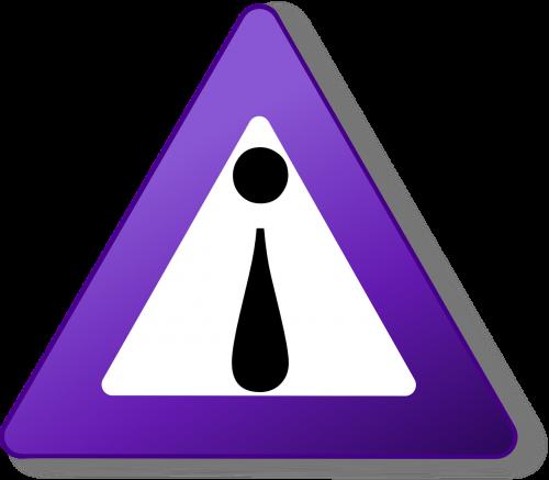 sign triangle purple