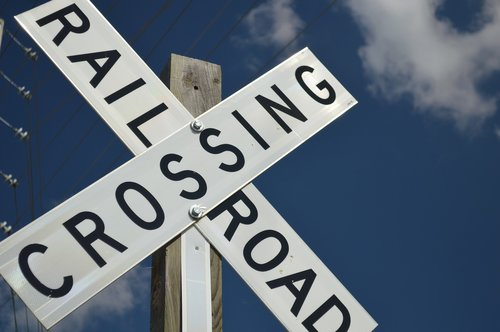 sign  railroad  train