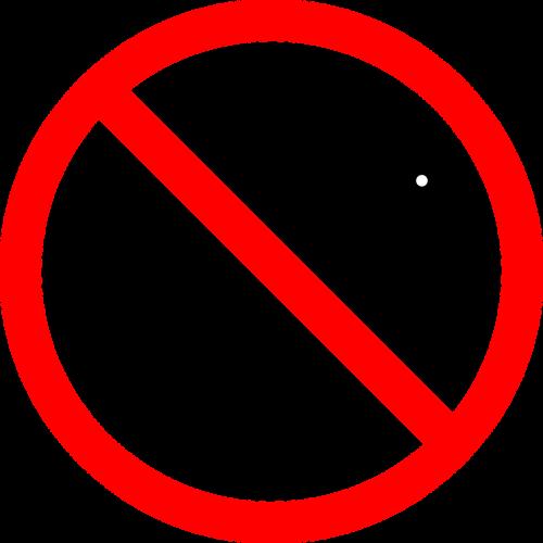 sign no pets symbol