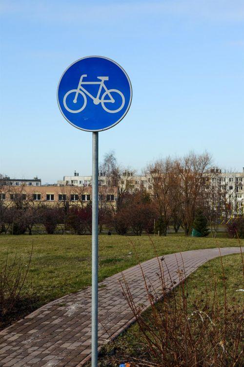 sign bike road