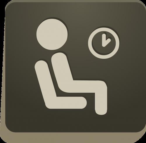 sign man sitting