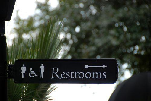 sign bathroom restroom