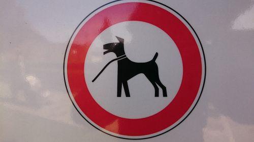 sign dog leech