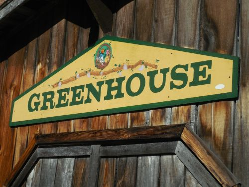 sign greenhouse welcome sign