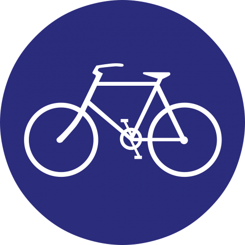 bicycles sign bike