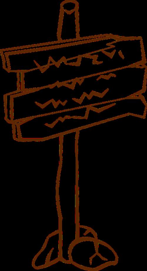 sign post sign fingerpost