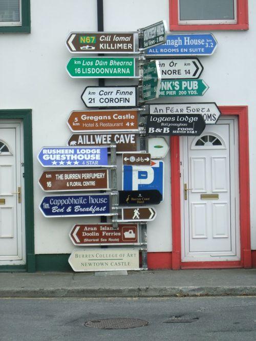 sign posts street sign post
