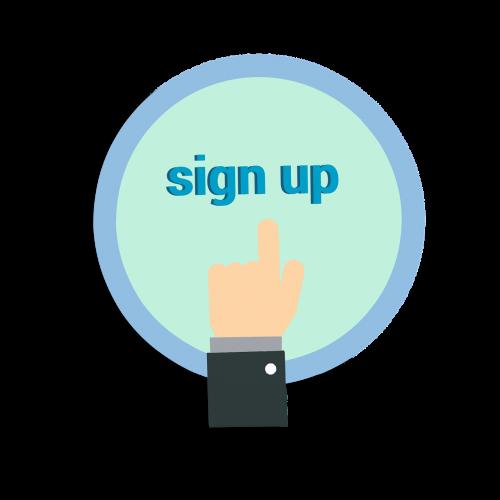 sign up registration website
