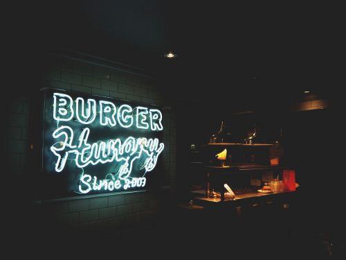 signage restaurant burger