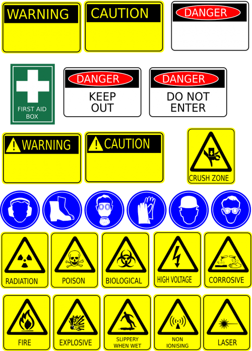 signage safety health