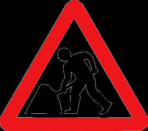 signal work sign