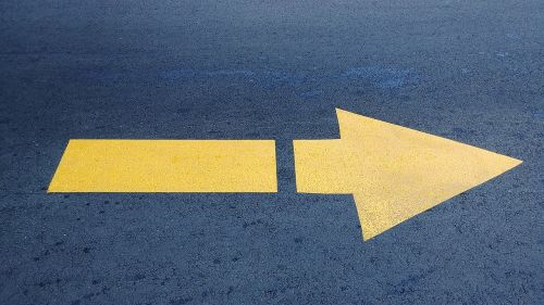 signalling pavement arrow