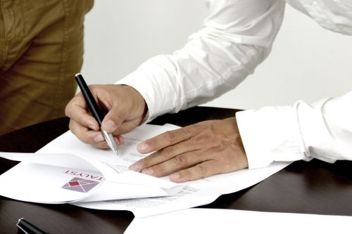 signature contract person signing a document