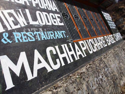 signboard basecamp machhapuchchhre