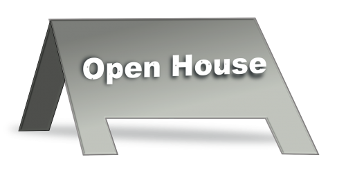 signboard sign open house