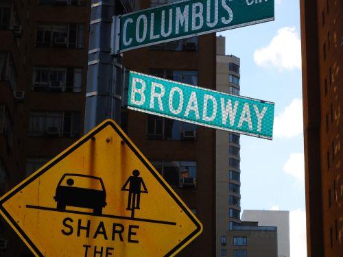 signboard new york broadway